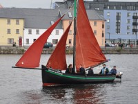 Galway Hooker at full sail