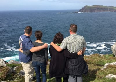 taking in the the sea views on Northern-Delights tour